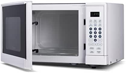 Westinghouse WCM990W 900 Watt Counter Top Microwave Oven, 0.9 Cubic Feet, White Cabinet
