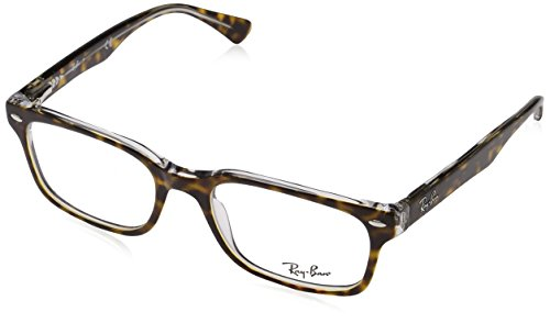 Ray-Ban RX5286 Square Eyeglass Frames, Tortoise On Transparent/Demo Lens, 51 mm (Ray Ban Frames Weiblich)