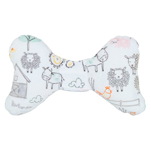 Original Baby Elephant Ears Head Support Pillow for Stroller (Luxe Edition Barnyard Minky)