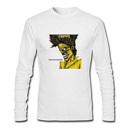 Yang Men's The Cramps Bad Music For Bad People Long Sleeve T Shirt XXL