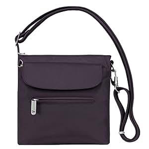 Travelon Anti-Theft Classic Mini Shoulder Bag, Purple, One Size