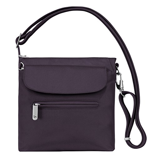 Purple Classic Size Mini Midnight Anti Bag One Travelon Shoulder Theft 4wzxS