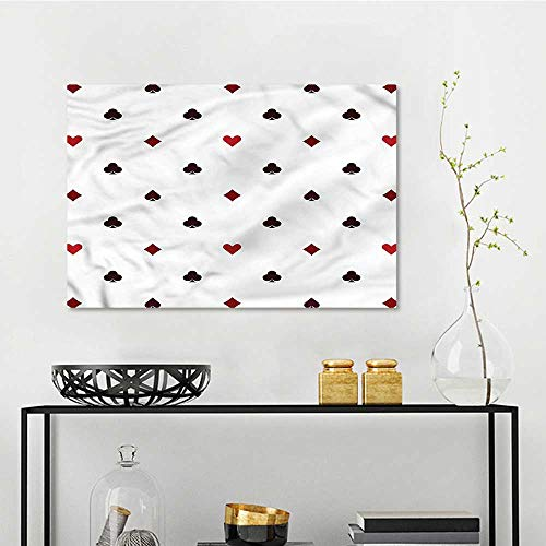 (one1love Casino Modern Decorative Painting Gambling Club Minimalist A for Your Relatives and Friends W35 xL23)