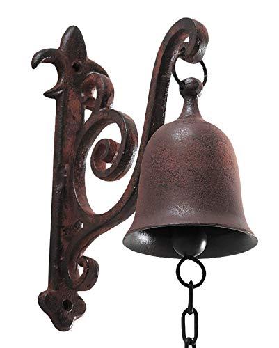 DECONOOR Vintage Cast Iron Rustic Dinner Bell (Big Dinner Bell)
