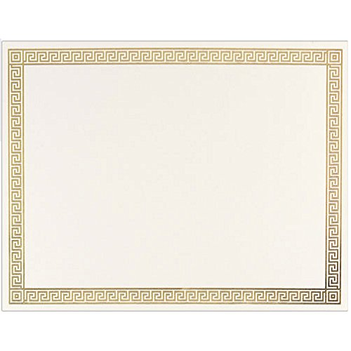 Gold Channel Foil Border Certificates - Pack of - Foil Channel Border