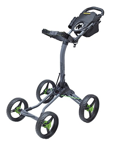 Bag Boy Folding Golf Cart - Bag Boy Quad XL Golf Cart, Battleship Gray/Lime