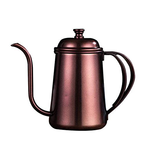 Teapot, Maserfaliw 650ml Stainless Steel Goose Neck Spout Coffee Teapot Kettle Long Mouth Drip Pot - Bronze, Practical Holiday Gifts And Essentials For Life. - Pot Goose