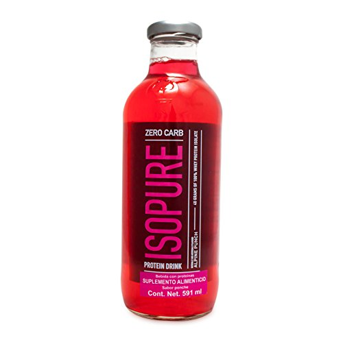 Carb Punch (Isopure Zero Carb Protein Ready-To-Drink, Alpine Punch, 20 Ounce (Pack of 12))
