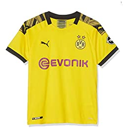Puma BVB Home Replica Evonik with Opel Logo Maillot Garçon, Cyber Yellow Black, FR Fabricant : Taille Unique