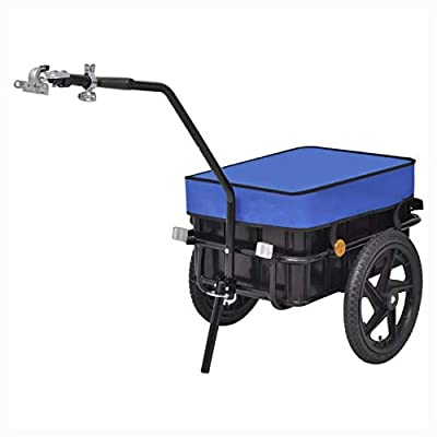 HEATAPPLY Bicycle Trailer, Bike Trailer/Hand Wagon Blue 15 gal