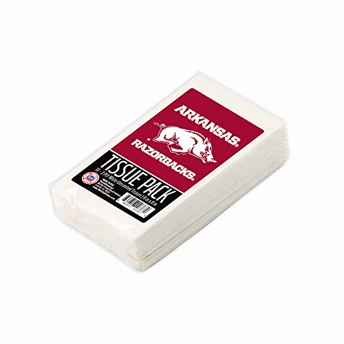 Worthy Promo NCAA Arkansas Razorbacks Party Favors & Party Supplies Tissue Packs 10-Pack