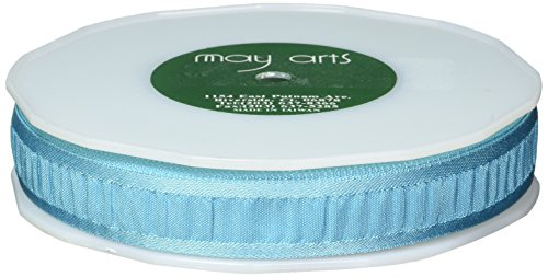 May Arts Ruched Ruffle Satin Edge Ribbon 7/8