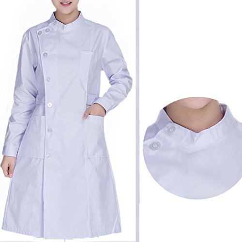 Blanche Infirmire Professionnel Chimie Blouse Mdical Uniforme Blanc THEE Longues Laboratoire Manches qpwYaIRx