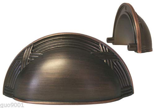 (Oil Rubbed Bronze Ribbon & Reed Kitchen Cabinet Drawer Knobs and Pulls 3