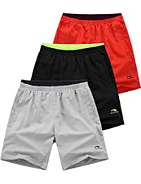 Mens Light Weight GYM Workout Running Solid Sport Shorts