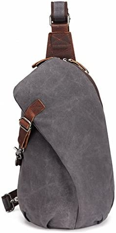 AOTIAN Unisex Sling Backpack Waxed Canvas Crossbody Bag 10 Liter