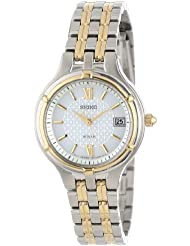 Seiko Womens SUT020 Dress Two-Tone Stainless Steel Solar Watch