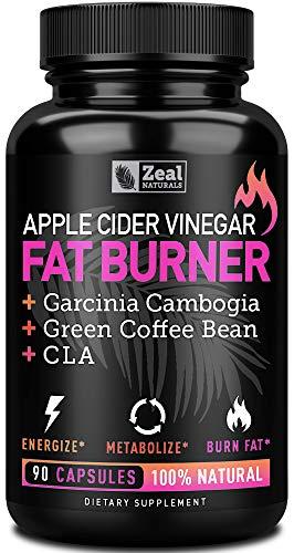 Apple Cider Vinegar Weight Loss Pills for Women - Garcinia Cambogia + Apple Cider Vinegar Pills for Weight Loss w. CLA & Green Coffee Bean Green Tea Fat Burner Pills - Detox Cleanse Weight Loss Pills (Herbs Loss Weight For)