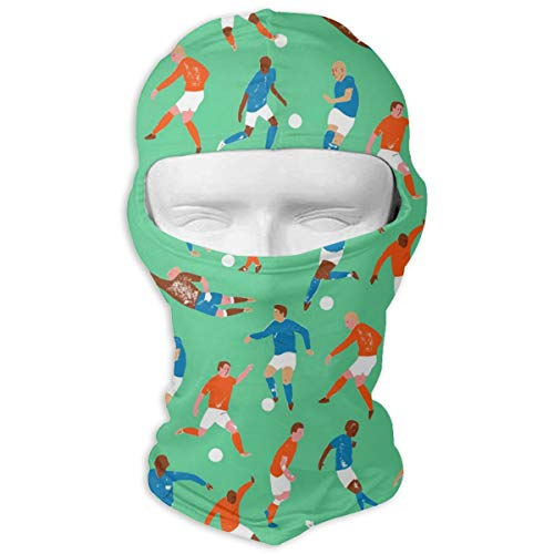 Balaclava Soccer Character Pattern Cool Windproof Ski Mask Snowboarding for Youth