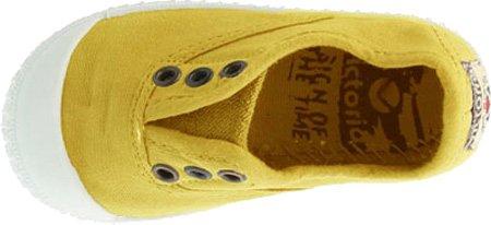 Calego - Zapatillas de casa de tela para niños Mostaza