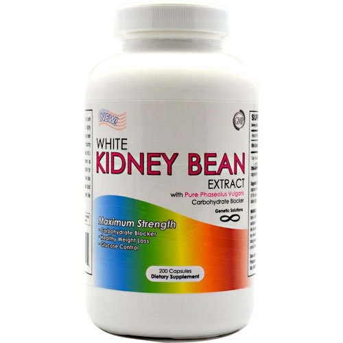 White Kidney Bean Extract- 1000mg Per Serving, 200 Capsules, 90 Day Supply, Carb Blocker and Appetite Suppressant, (Great To Use With Garcinia Cambogia), Health Care Stuffs