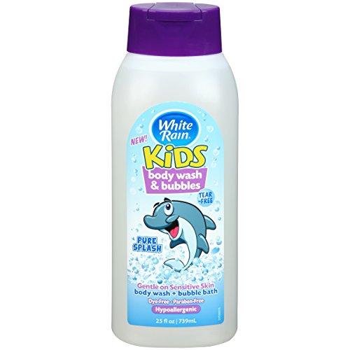 Rain Bubble Bath (White Rain Kids 2 in 1 Body Wash & Bubble Bath 25 oz)