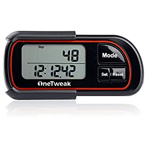 New OneTweak EZ-1 Pedometer for Walking. 3D Tri-Axis Clip-On. Back-to-Basics Step Counter. Simple to Use. Multi-Function. New Pause Function. Perfect Fitness/Exercise Tool.