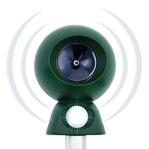 Repellent Rabbit Scram (NEW - Motion Activated Ultrasonic Animal Repeller and ultimate Critter Ridder. Effective against Deer, Squirrel, Rabbit, Chipmunk, Skunk, Dog, Raccoon and Cat. Ideal for Gardens, Basements or Garages)