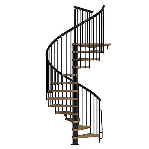 (Arke Nice1 Wood Tread Spiral Staircase Kits - 107-1/2