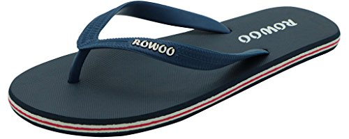 Men's Flat Dark Blue Flops Flip Rubber Sandals Beach wqxr7PwCZ