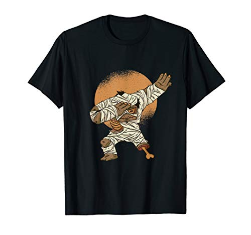 Retro Vintage Mummy Zombie doing Dab Dance Halloween  T-Shirt]()