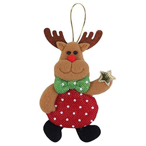 s Decor Snowman Santa Claus Pendants Drop Ornaments for Christmas Tree Decoration Xmas Party Supplies[3] ()
