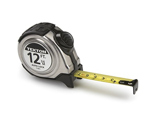 Auto Lock Measuring Tape - TEKTON 71961 12-Foot by 5/8-Inch Auto Lock Tape Measure