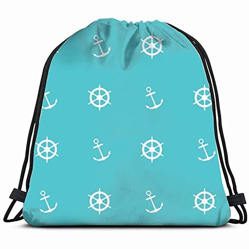 continuous drawing about nautical Drawstring Bag for Women Drawstring Hiking Backpack Gym Bag for Women 17X14 Inch]()