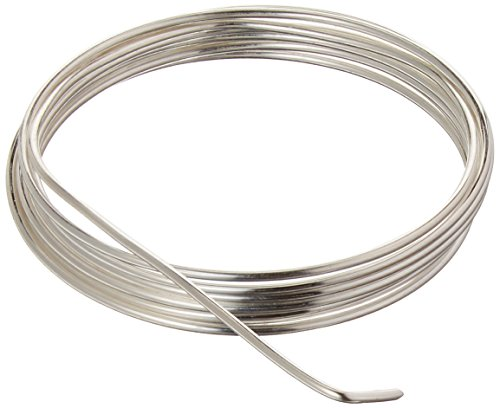 (Beadsmith BWG15S 14 Gauge/1.5mm Silver Plated Copper German Bead Wire Craft Wire, 1.8m/5.9')