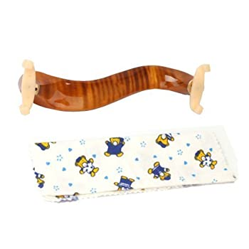 Ymc Violin-shoulder-rest-maple-34-44 New Deluxe Maple Wood Violin Shoulder Rest 34 44 Size 8