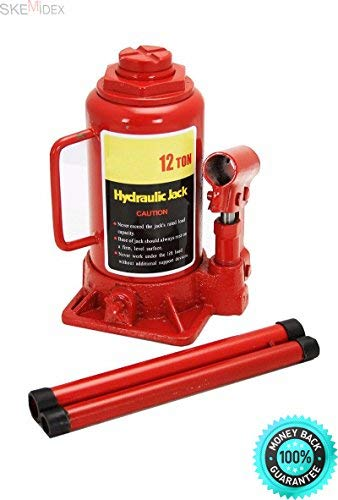COLIBROX-Car Jack Stand Jack Stands autozone Jack Stands Walmart Jack Stands Harbor Freight Jack Stands Home and New 12 Ton Hydraulic Bottle Jack 24000lb Lift Heavy Duty Automotive Car Compact