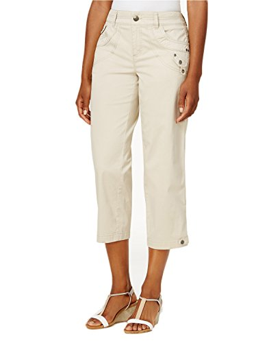 Style & Co. Classic Tab-Pocket Capri Pants (Stonewall, 6) 6 Pocket Capris