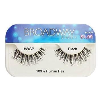 0172fdd141e Amazon.com : Broadway Eyes By Kiss Lashes Black #WSP Bla20 : Beauty