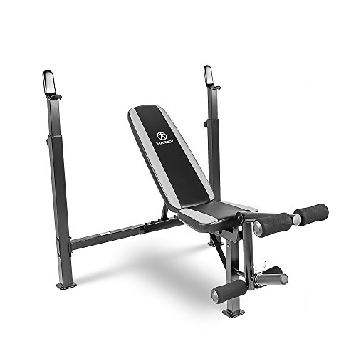 Marcy Fitness Olympic Multipurpose Weightlifting Workout Bench, Black | MWB-4491 by Marcy