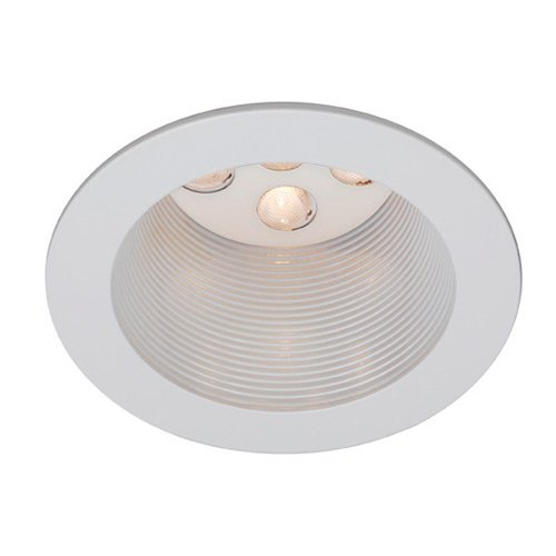 Trims 4 White Wt (WAC Lighting HR-LED421-BK/WT 4-Inch LED Downlight Trim Round)