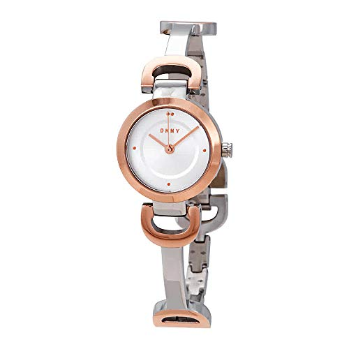 DKNY Women's City Link Quartz Watch with Stainless-Steel-Plated Strap, Multi, 5 (Model: NY2749