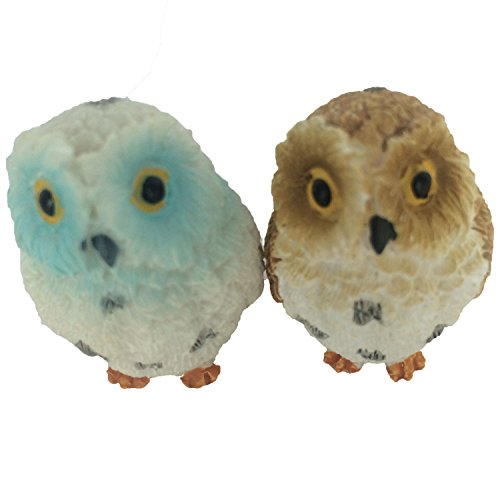 Cheap 1.6 inch Owls Status Aquarium Terrariums Miniature Garden Fairy Gardens Doll House Cake Topper Resin Decoration 2 pcs Set