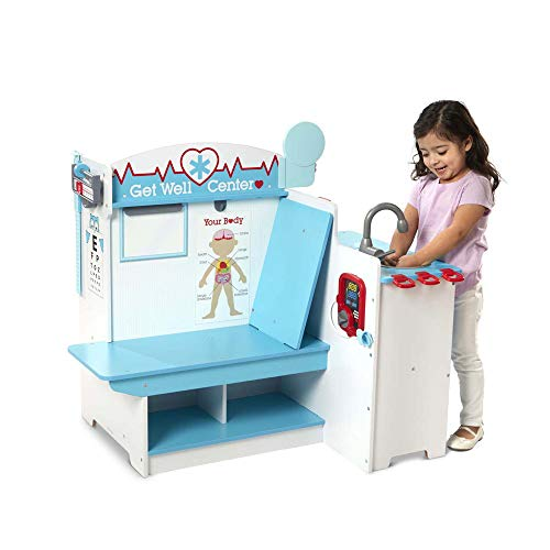 Melissa & Doug Wooden Get Well Doctor Activity Center - Waiting Room, Exam Room, Check-in Area from Melissa & Doug
