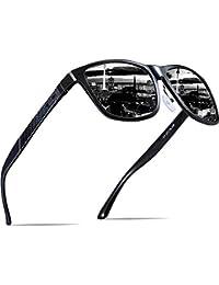 Men's Hot Retro Metal Frame Driving Polarized Sunglasses...