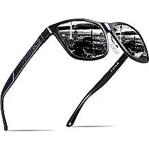 ATTCL Men's Hot Retro Metal Frame Driving Polarized Sunglasses Al-Mg Metal Frame Ultra Light