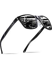 ATTCL Men's Driving Polarized Wayfarer Sunglasses Al-Mg Metal Frame Ultra Light