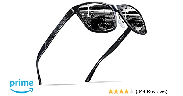 908d6e7dbd Amazon.com  ATTCL Men s Retro Metal Frame Driving Polarized Sunglasses For  Men 18587black  Clothing