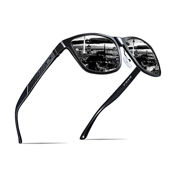 1d9074c4d1 ATTCL Men s Hot Retro Metal Frame Driving Polarized Sunglasses Al-Mg Metal  Frame Ultra Light