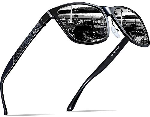 ATTCL Men's Retro Metal Frame Driving Polarized Sunglasses For Men ()